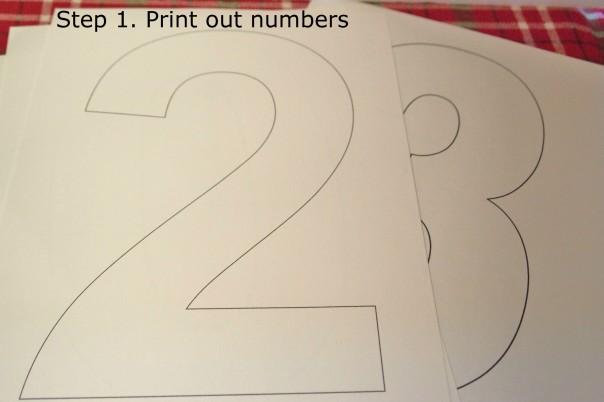 Step 1. print numbers