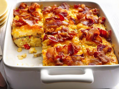 egg & bacon casserole