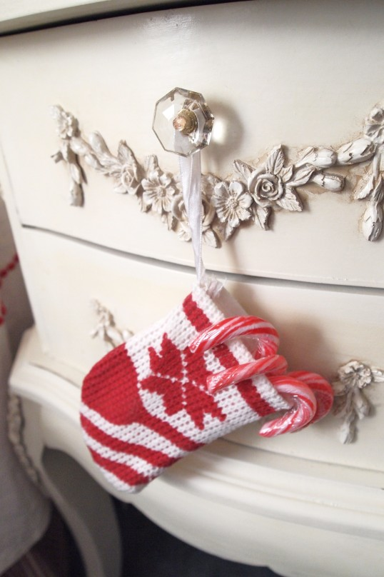 candy canes in stocking