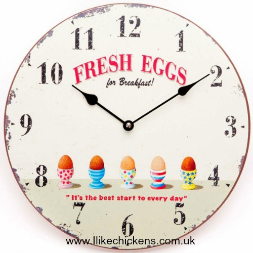 fresh eggs clock