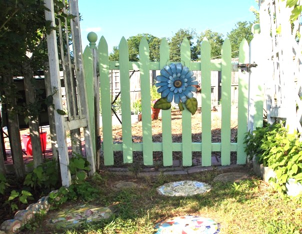 painted garden gate