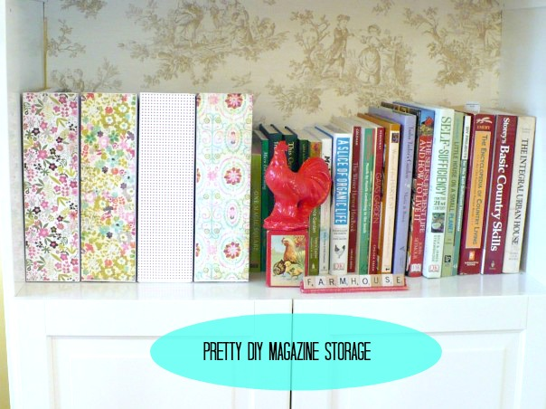 ACultivatedNest: DIY Magazine Storage