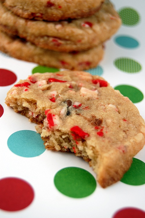 peppermint crunch chocolate chip Christmas cookie
