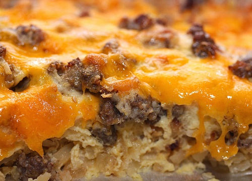 sausage & egg casserole | Easy Christmas Breakfast Ideas