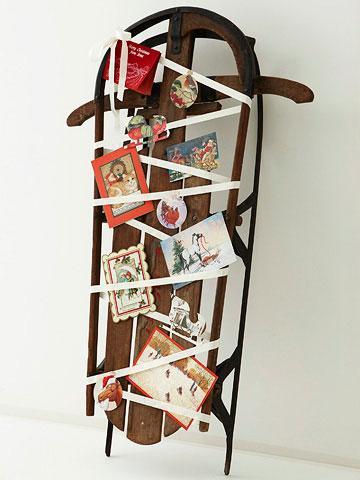 Christmas card holder idea