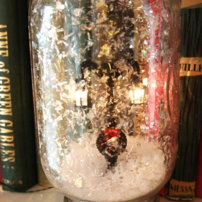 snow globe in a jar
