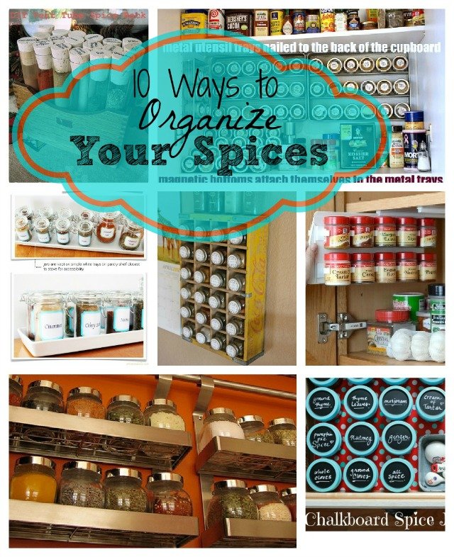 10 Spice Organization Ideas- If you're tired of your spices being a mess, then you need to see these great spice organization ideas! They're so easy and quick to implement! | spice cabinet organization, spice drawer organizing hacks, how to organize your spices, kitchen organizing ides, #organizingTips #organization #ACultivatedNest
