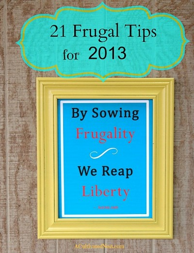 21 great frugal living tips
