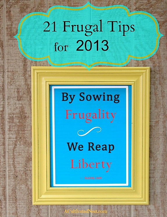 21 frugal tips