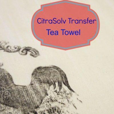 CitraSolv Transfer method on tea towel - {ACultivatedNest.Com}