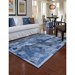 denim cotton rug