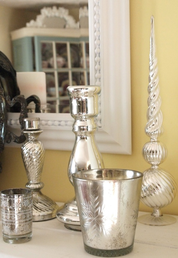 mercury glass candle holders