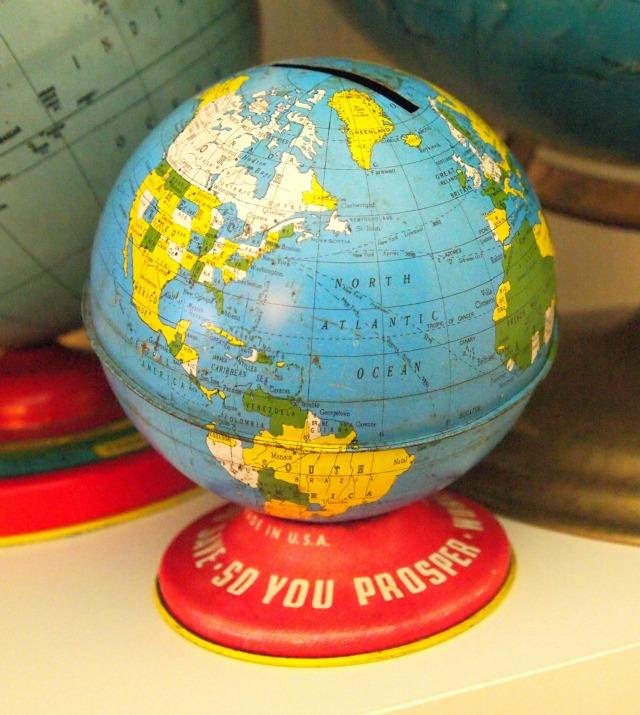 Ohio Art vintage globe