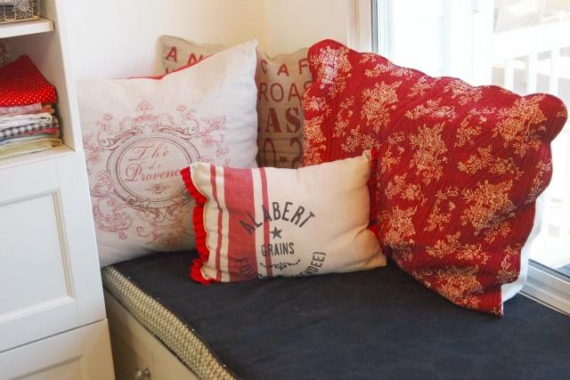 pillows on window seat