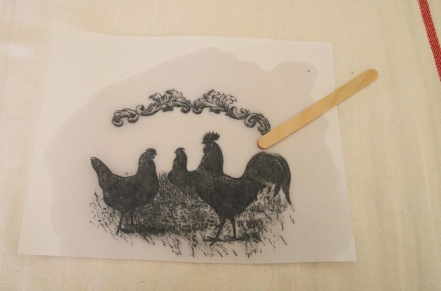 rub image with craft stick