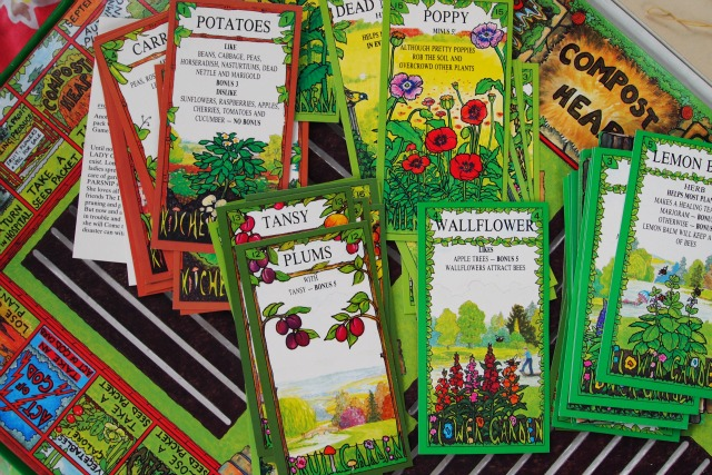 seed cards for The Garden Game