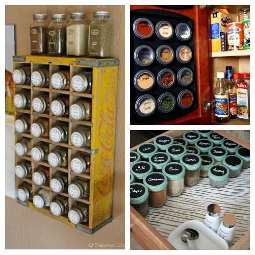 10 Spice Cupboard Organization Ideas- Get your spices organized quickly and easily with these great spice cupboard organization ideas! Spice drawer organizing tips also included! | spice cabinet organization, spice drawer organizing hacks, how to organize your spices, kitchen organizing ides, #organizingTips #organization #ACultivatedNest