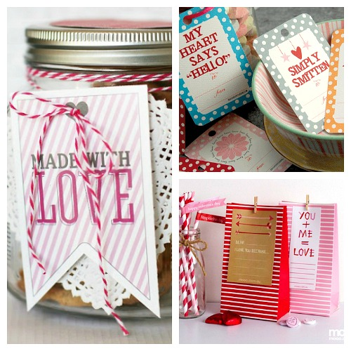 14 Free Valentine's Day Printables- You can easily make this Valentine's Day super special with the help of these free Valentine's Day printables! This great roundup includes printable gift tags, wall art, and more!   printable Valentine's tags, Valentine's Day labels, Valentine's printable, #Valentines #freePrintable #ACultivatedNest