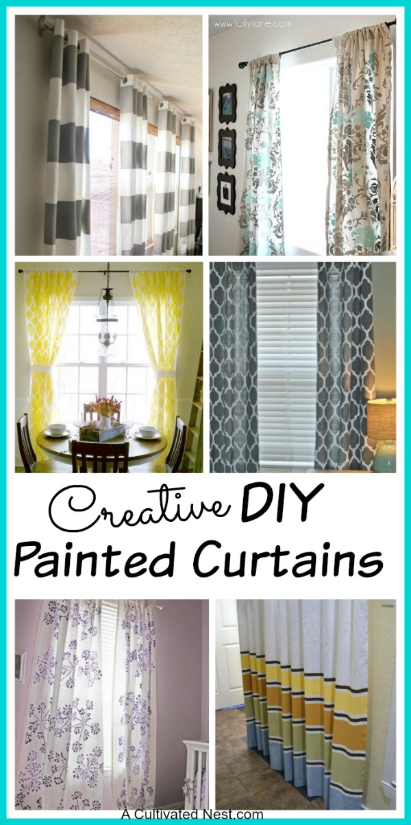 DIY Painted Curtains - What a great way to save some money and get an amazing look that you can tailor to your home!
