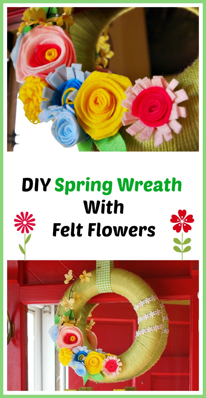 A easy to follow tutorial on how to make a DIY Spring Wreath with felt flowers. DIY spring home decorating projects| DIY wreaths| spring crafts