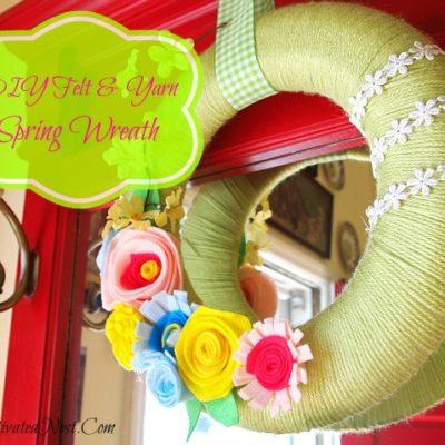 DIY Felt & Yarn Spring Wreath