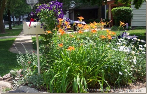 Mailbox Garden With Daylillies