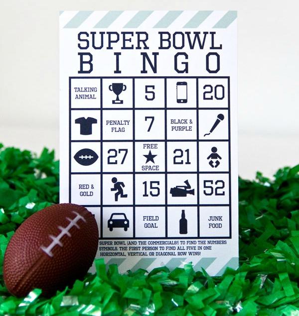 Suber Bowl Bingo