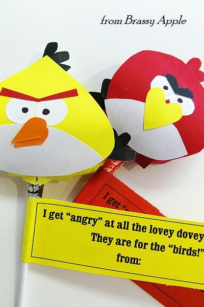 Angry bird valentine printable