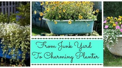 bathtub flower planters