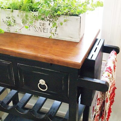 Thrift Store Makeover- Kitchen Herb Planter