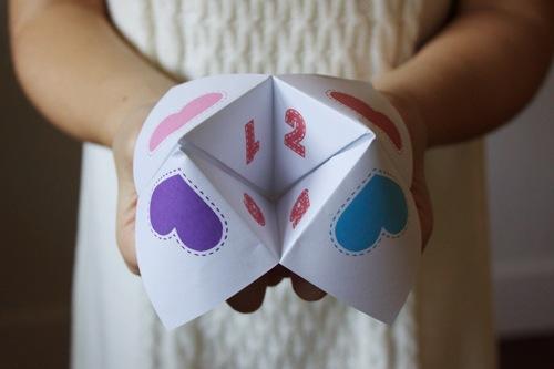 fortune teller valentines