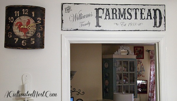 adding farmhouse style to my kitchen - a cultivated nest