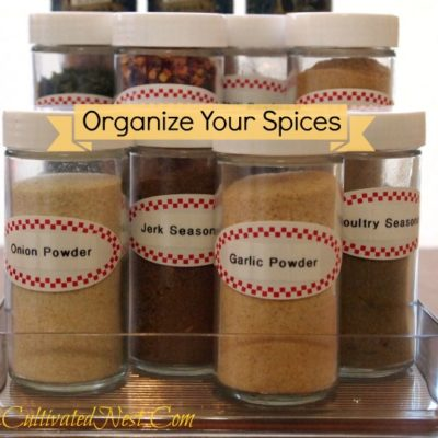 how to organize your spice cabinet
