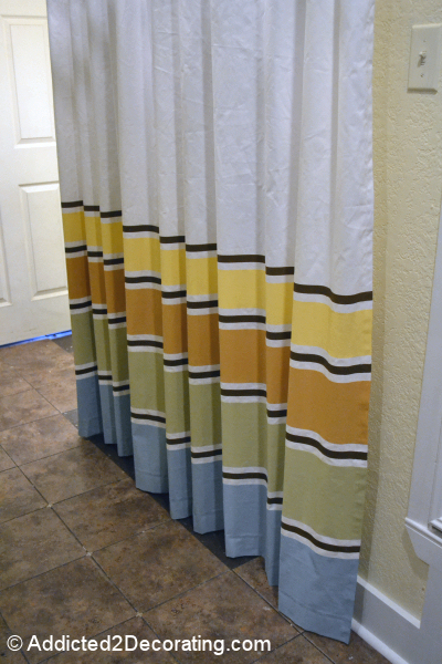 multi stripe painted curtains