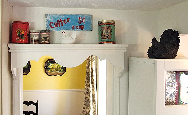 rustic farmhouse style coffee sign