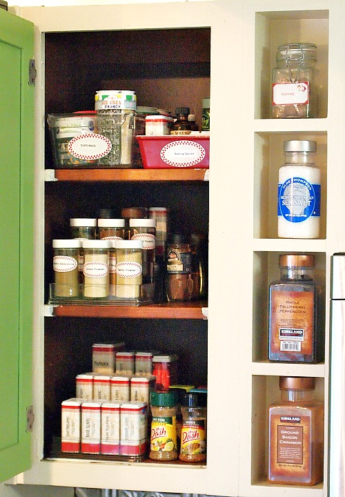 spice cabinet makeover after