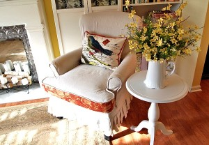A Corner of My Living Room-Some Spring Decorating
