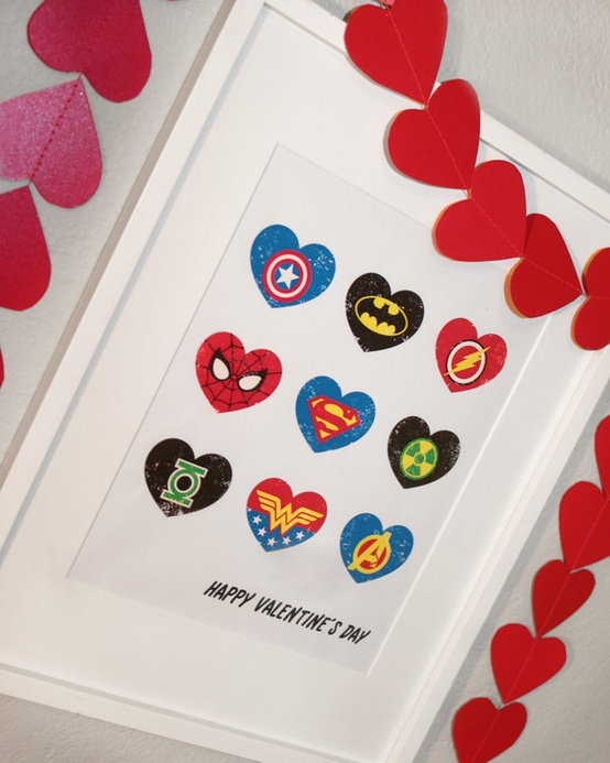 super hero hearts