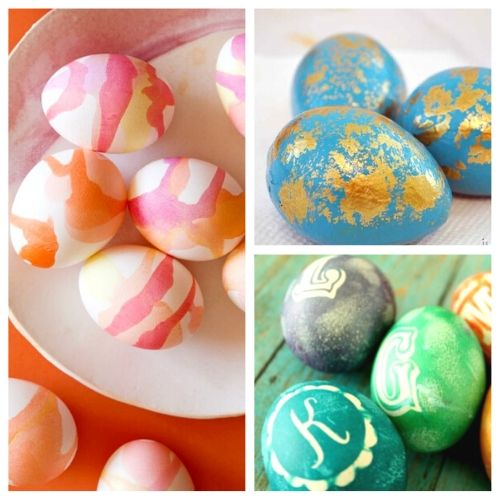 14 Fun Easter Egg Decorating Ideas- If you're tired of the same old dyed Easter eggs, you need to check out all these creative and unique ways you can decorate your Easter eggs this year! | #EasterEggs #Easter #craft #DIY #ACultivatedNest