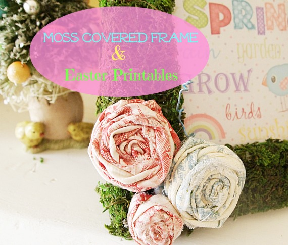 DIY moss covered frame & free Easter Printables