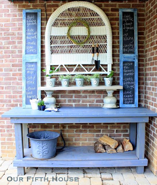 Garden Potting Bench Ideas Part - 17: DIY Potting Bench Ideas