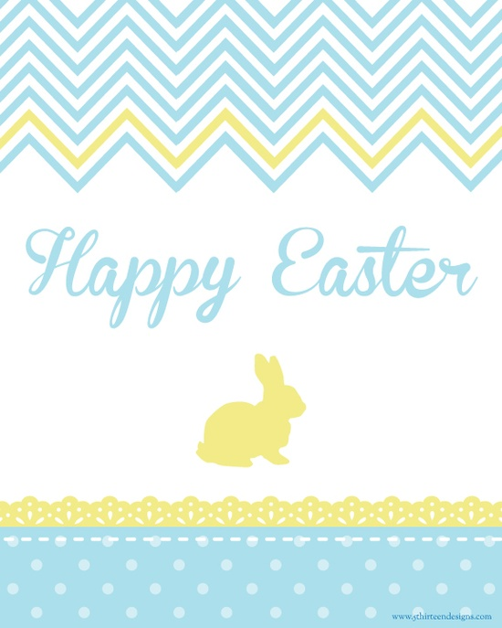 chevron easter printable
