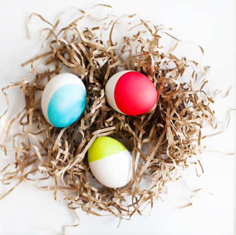 egg decorating ideas - dip dyed Easter eggs