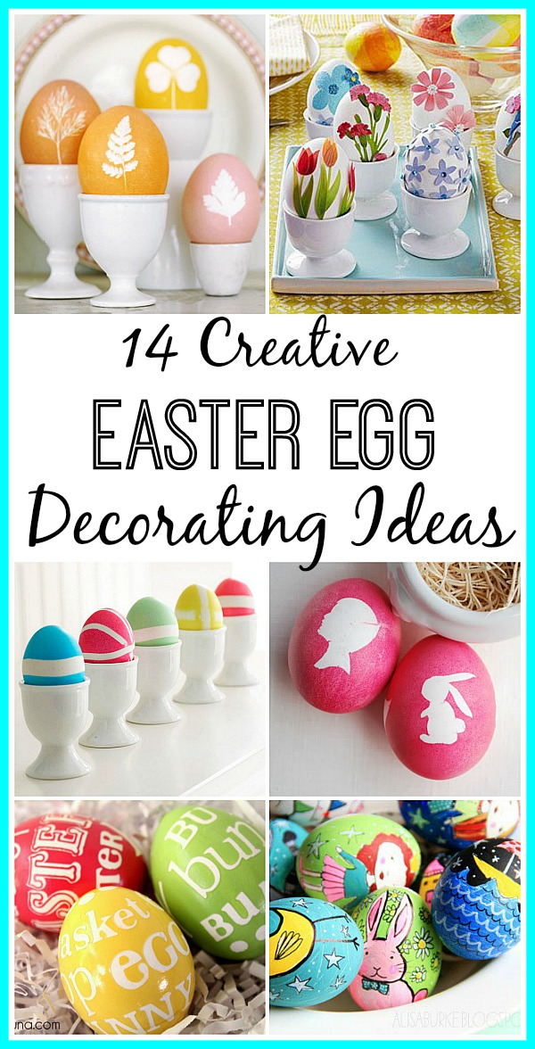 14 Unique Easter Egg Decorating Ideas- If you're tired of the same old dyed Easter eggs, you need to check out all these creative and unique ways you can decorate your Easter eggs this year! | #EasterEggs #Easter #craft #DIY #ACultivatedNest
