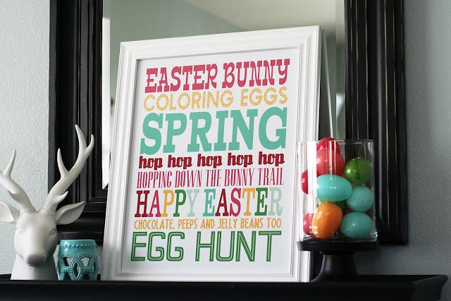 Easter bunny subway art