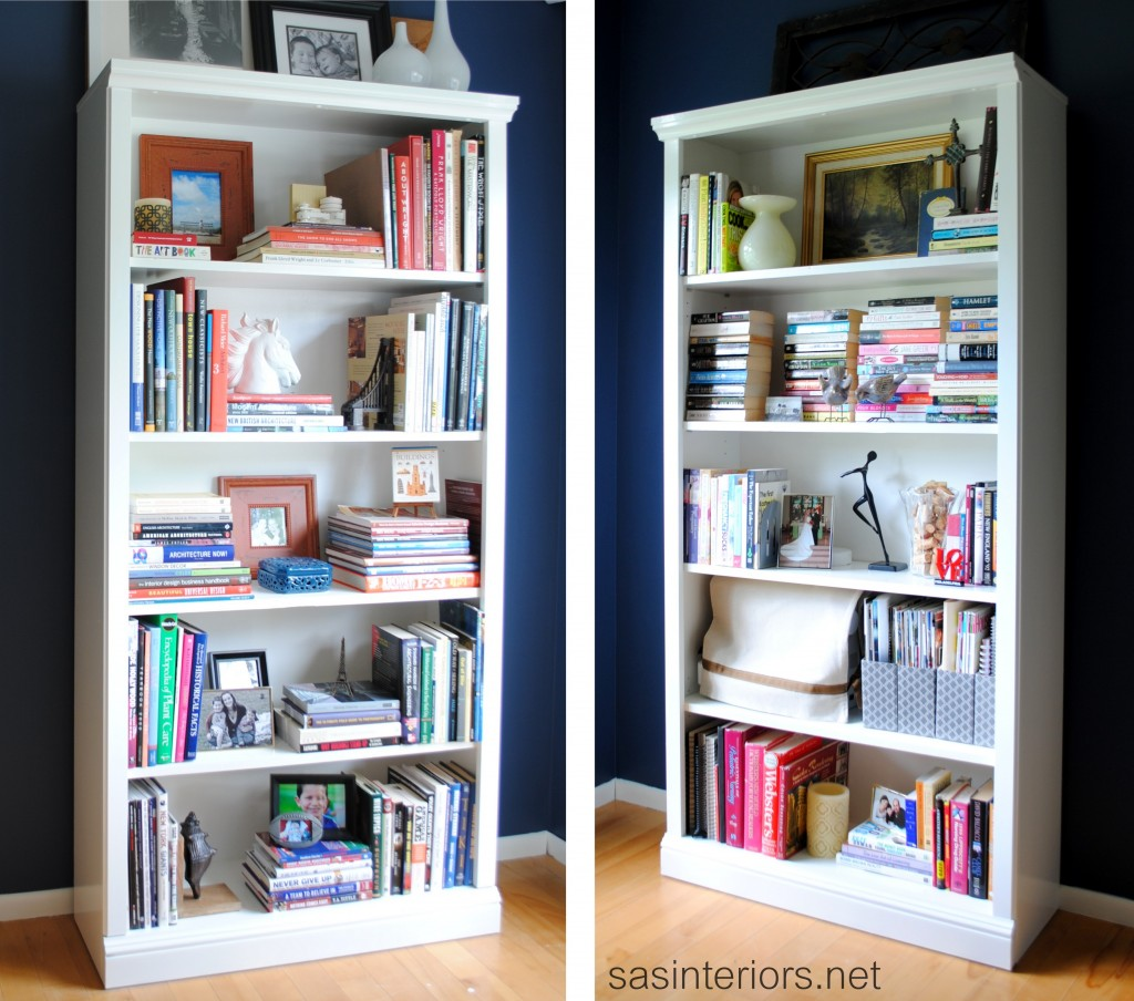 Marvelous photograph of how to paint laminate bookcases from SAS Interiors {DIY Saturday at  with #9B6530 color and 1024x904 pixels