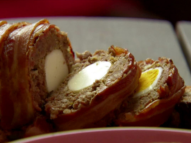 meatloaf with hard-boiled eggs