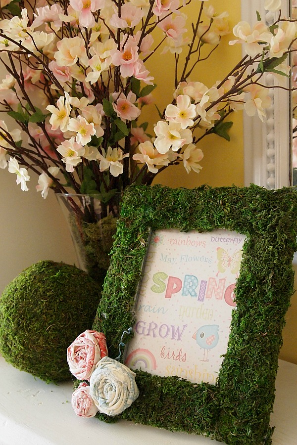 moss covered frame and ball