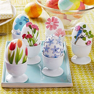 Easter egg decorating ideas - scrapbook sticker Easter eggs