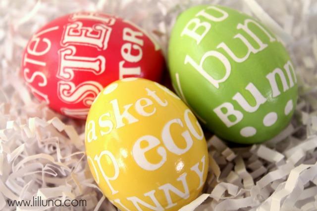 Easter egg decorating ideas - subway art Easter eggs